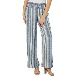 Indigo Rein Linen Stripe Beach Pant